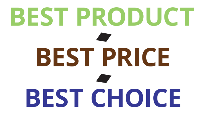 Best Product, Best Price, Best Choice